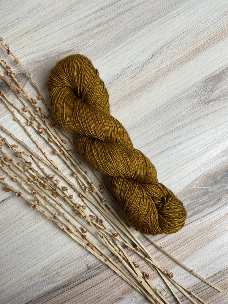 Deep Gold SW Merino Yak Silk Yarn
