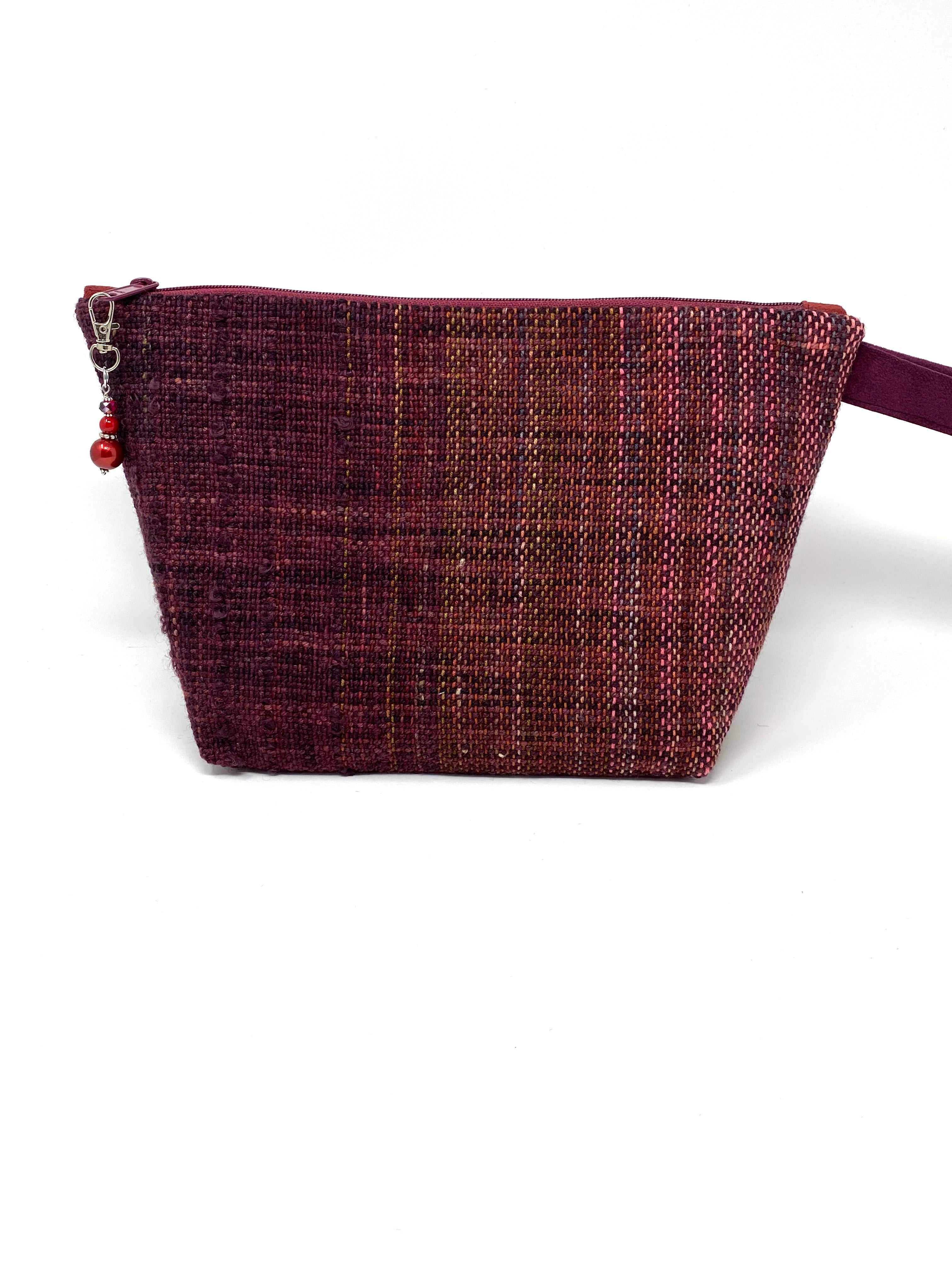 Deep Red Handwoven Project Bag