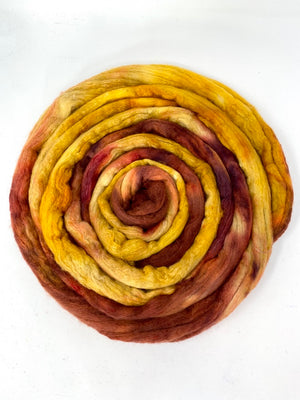 Gold Bronze 50/50 Merino Silk Spinning Fiber