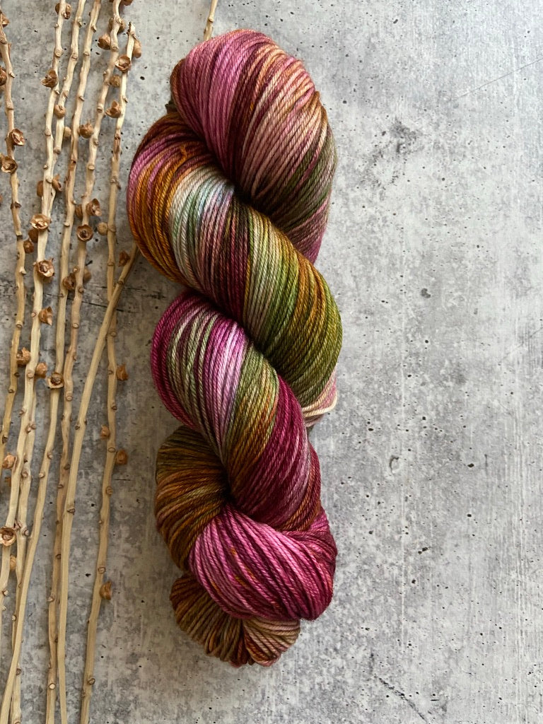 Wine Green Rust SW Merino Nylon Yarn