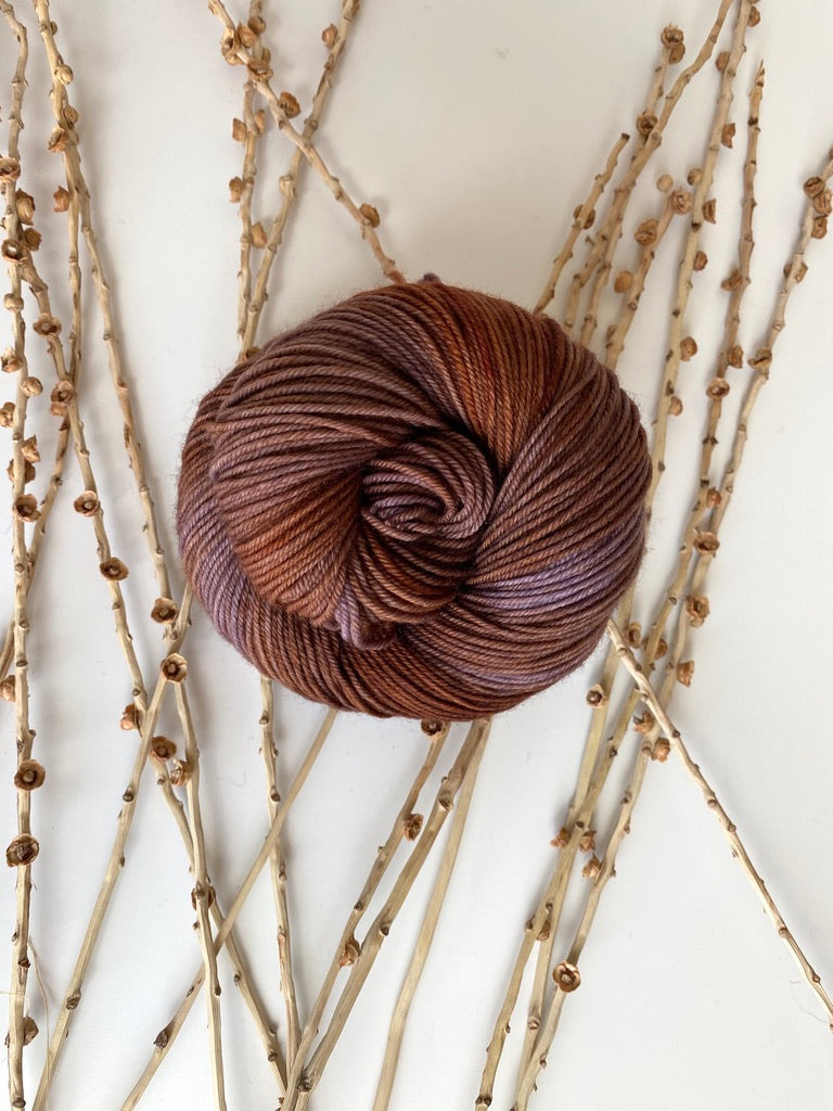 Chocolate Brown SW Merino Nylon 50g Skein