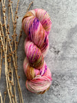 Pink Gold Speckled SW Merino Nylon Yarn