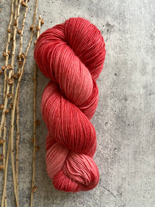 Coral Tonal Hand Dyed Yarn