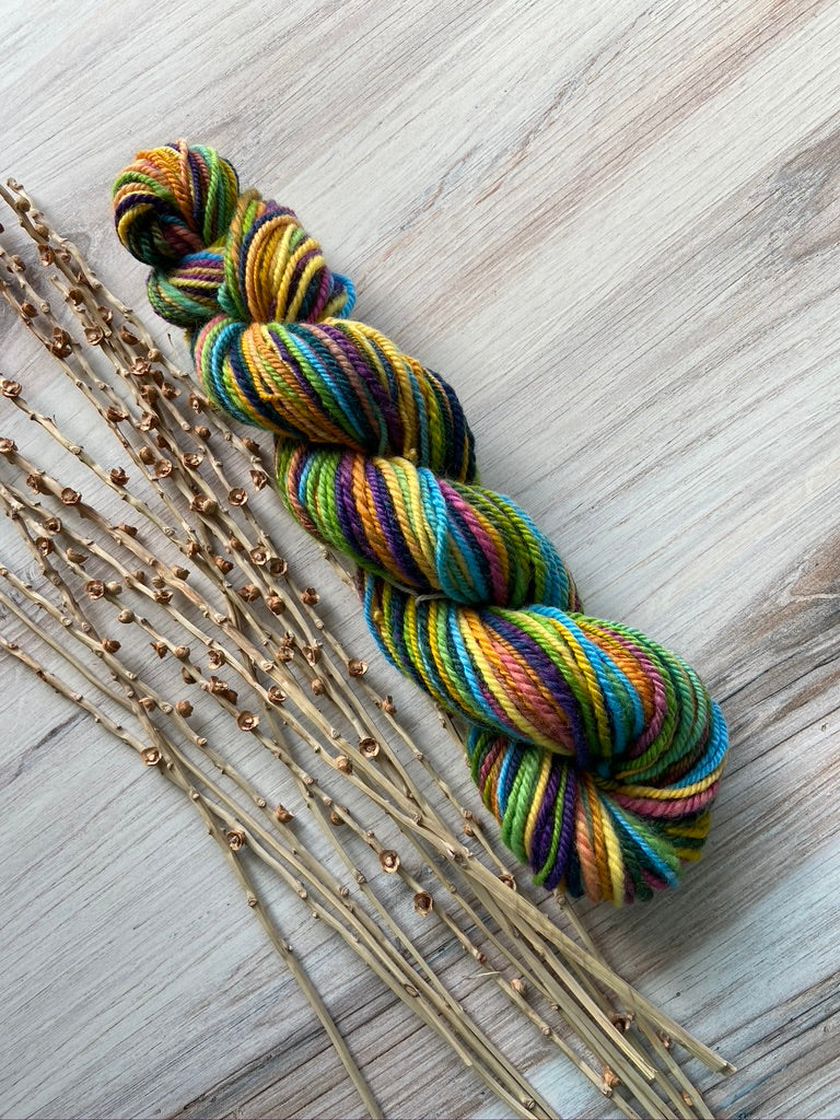 Rainbow Hand Spun Yarn