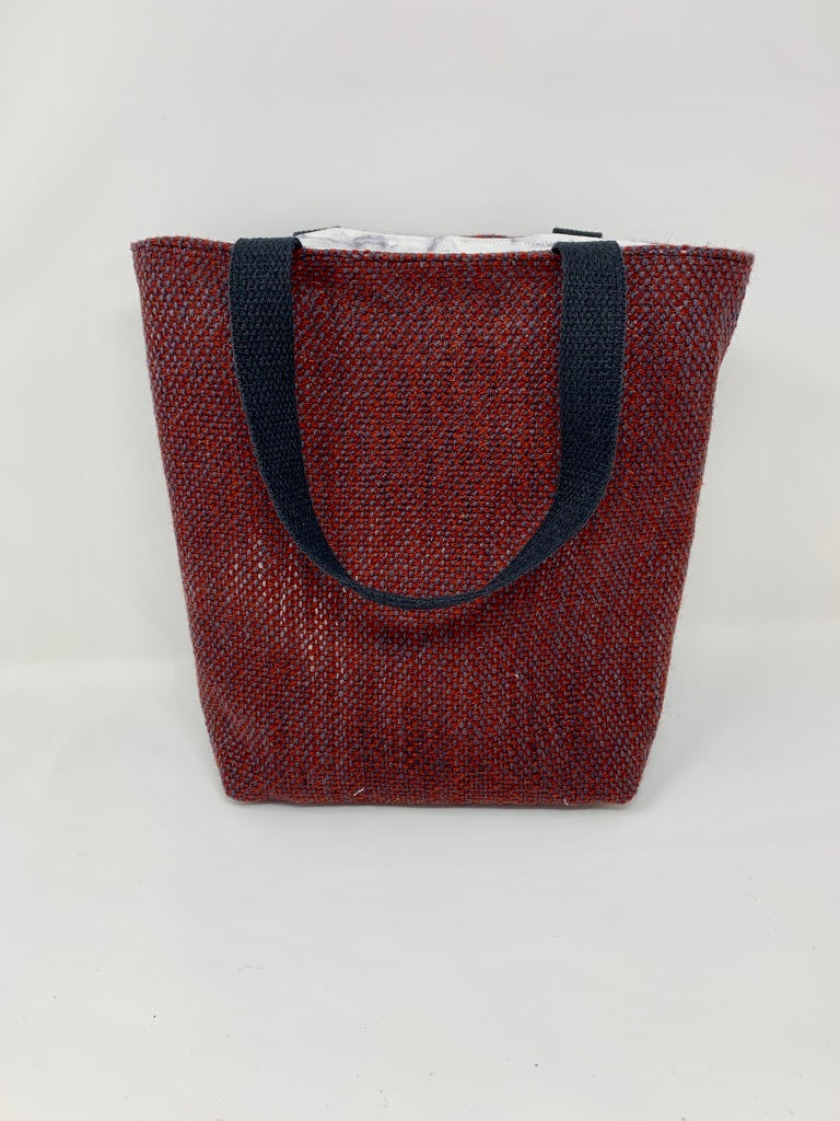 Rust Wool Tote Bag