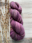 Purple Lavender Mauve Brown Gray Hand Spun Yarn