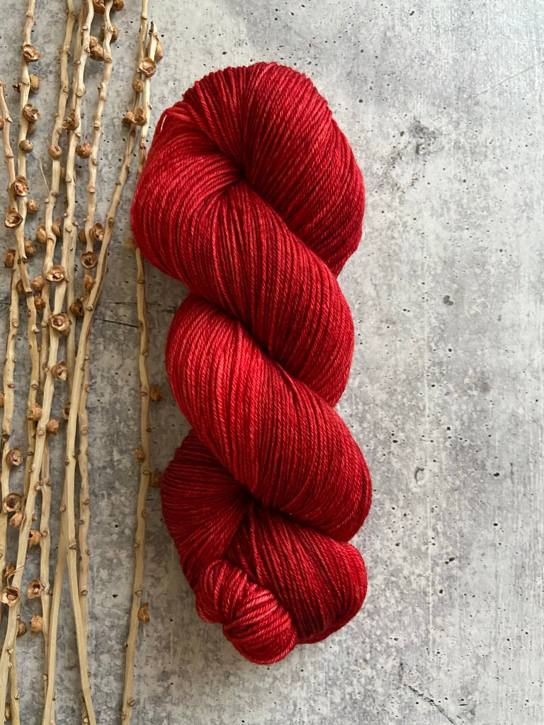 Red SW Merino Nylon Yarn
