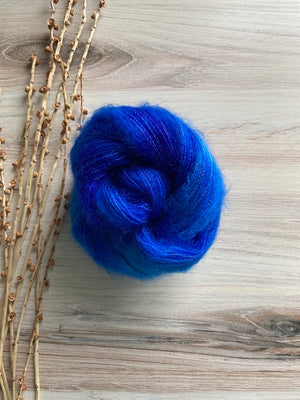 Royal Blue Kid Mohair Silk Lace Weight Yarn