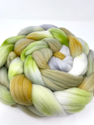 Gray Green Gold Rambouillet Top