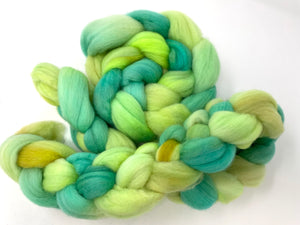 Green Aqua 100% Polwarth Spinning Top