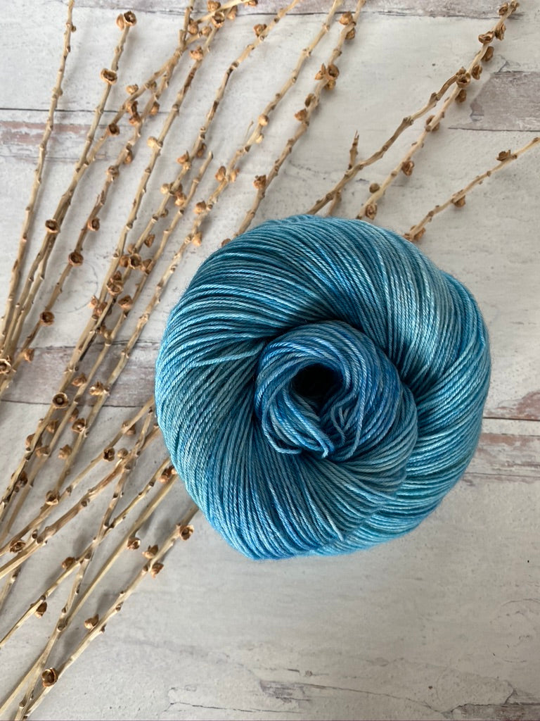 Nautical Blue SW BFL Fingering Weight Yarn