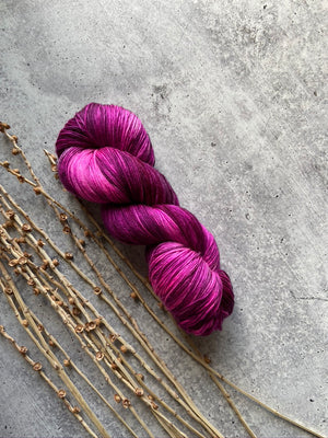 Deep Purple Pink SW Merino Nylon Yarn