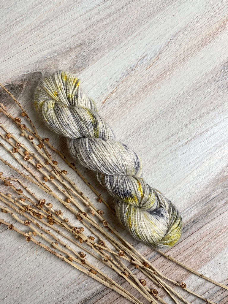 Gray White Yellow Superfine Alpaca Silk Yarn