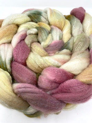 Green Wine Gold Organic Polwarth Cultivated Silk