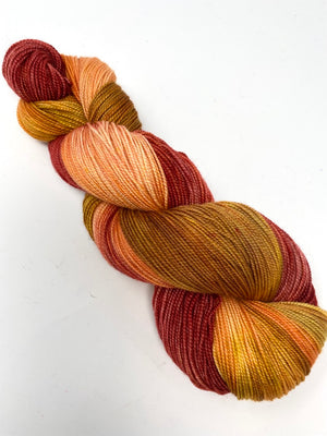 Rust Orange Apricot Gold Merino Silk