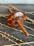 Copper Resin With Pinecone Drop Spindle