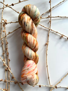 Orange Green Gold Speckled SW Merino Nylon
