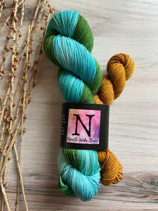 Green Turquoise Gold Sock Set