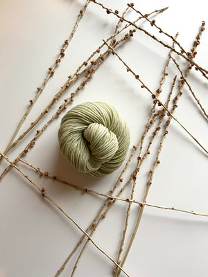 Pale Green SW Merino Nylon Yarn