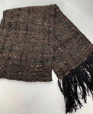 Brown Tweed Scarf