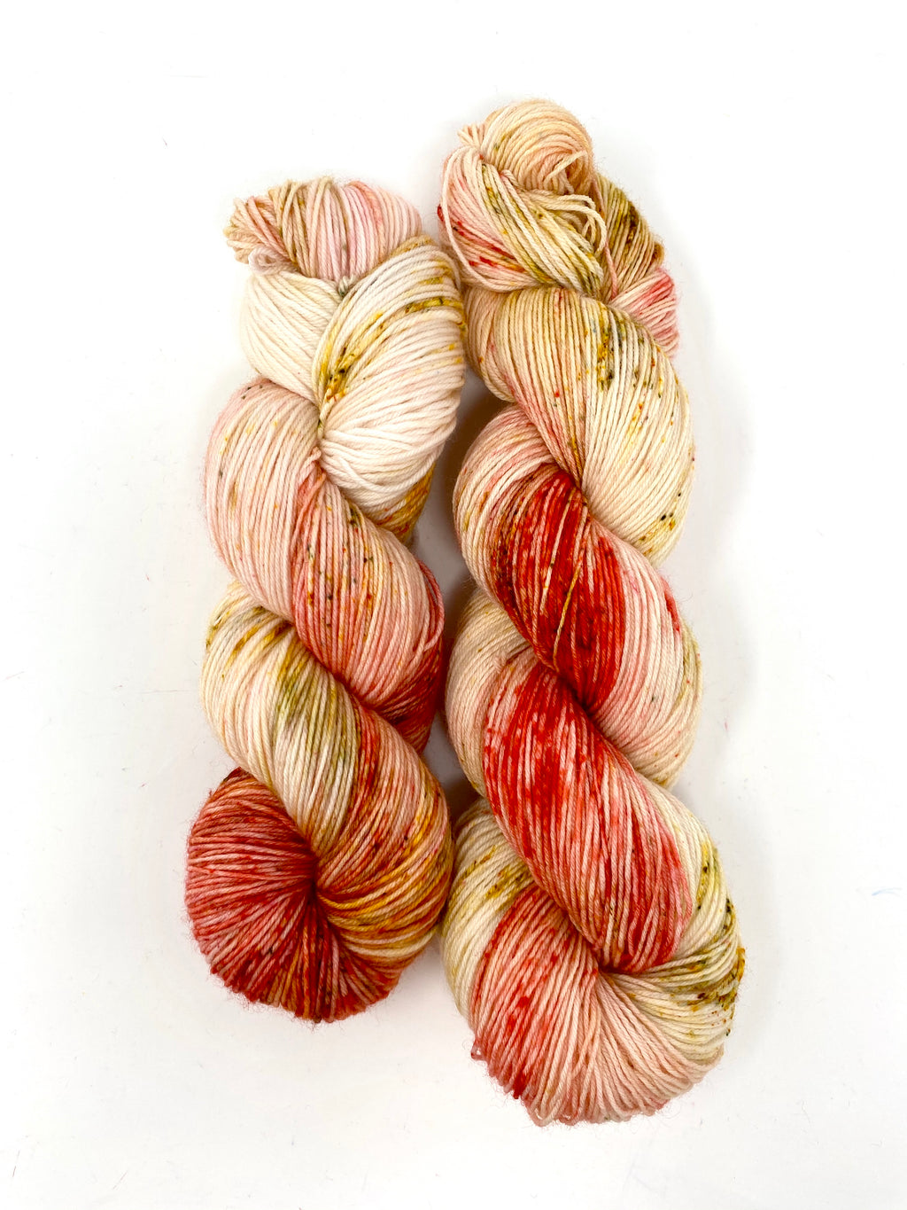 Cream Gold Red Speckled Yarn