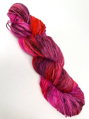 Red Hot Pink Plum Variegated Yarn