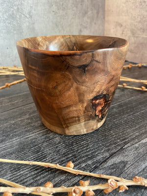 Black Walnut Bowl With Copper Resin