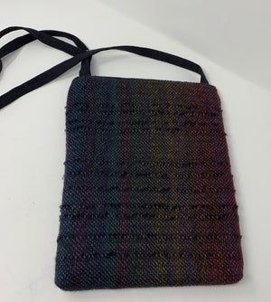 Black With Muted Colors Handwoven Purse