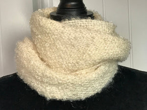 Off White Mohair Scarf