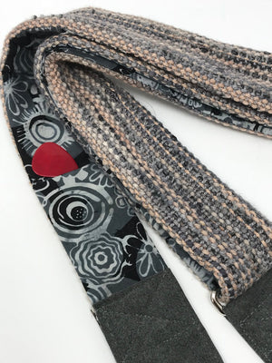 Gray Tan Guitar Strap
