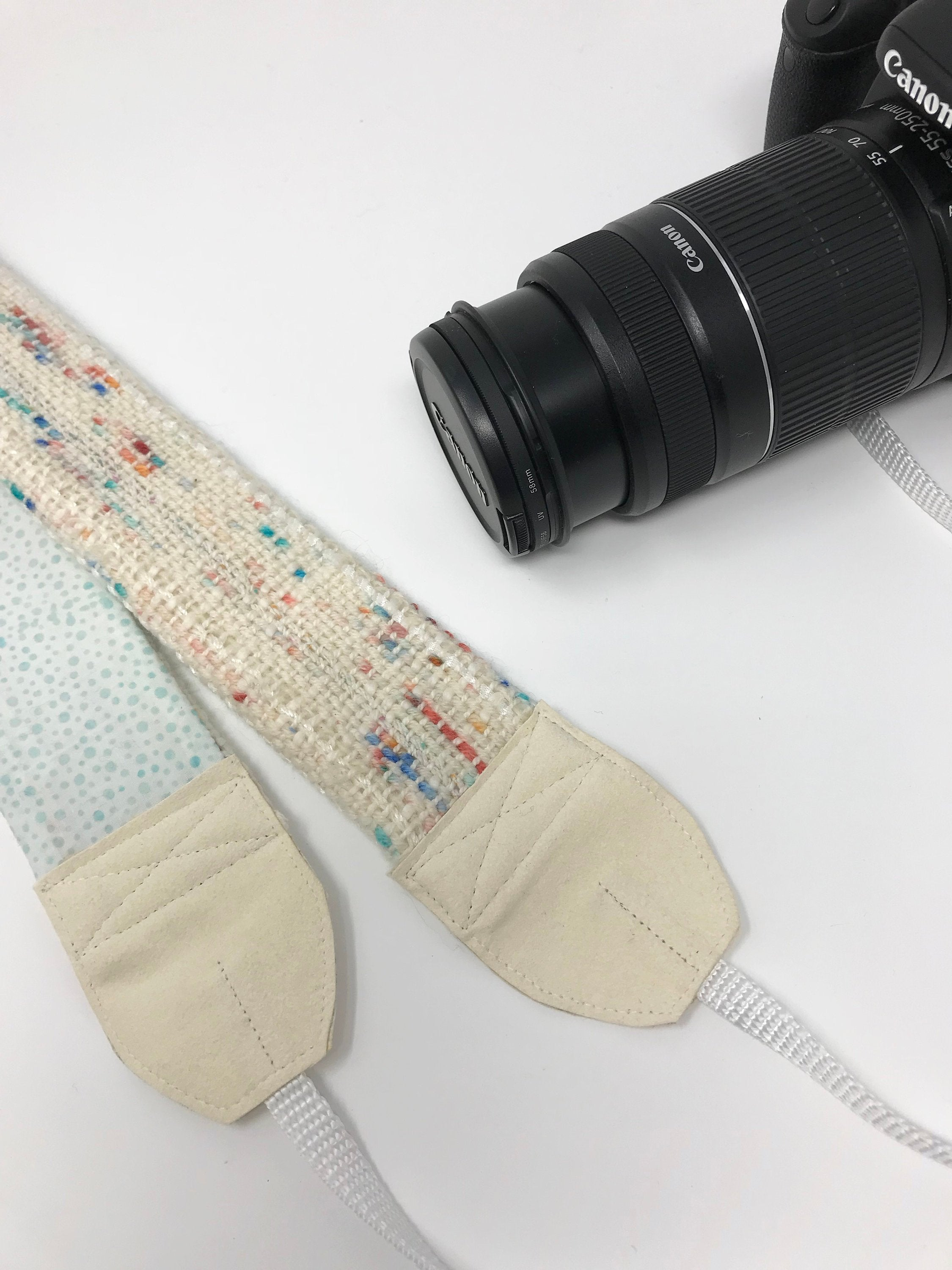 Off White Speckled Camera Strap