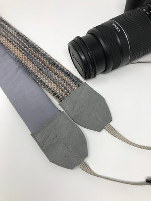 Taupe Gray Camera Strap