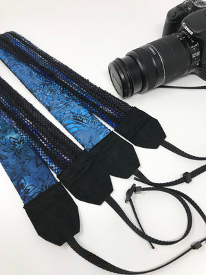 Black Deep Blue Camera Strap