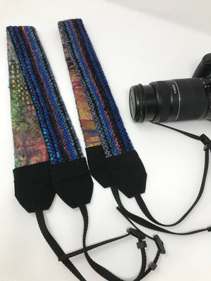 Blue Striped Camera Strap
