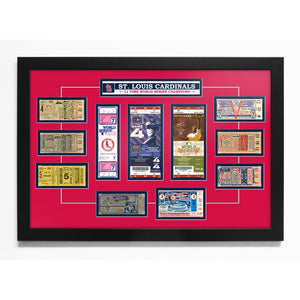 "St. Louis Cardinals 16"" X 24"" 11-Time World Series Champions Tickets To History Framed Print"
