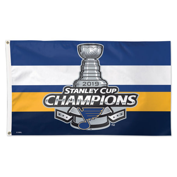 St. Louis Blues 2019 Stanley Cup Champions Official Locker Room 1-Sided Deluxe 3' x 5' Flag