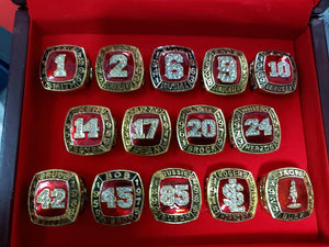 St. Louis Cardinals Replica Retired Numbers Rings Set With Display Box