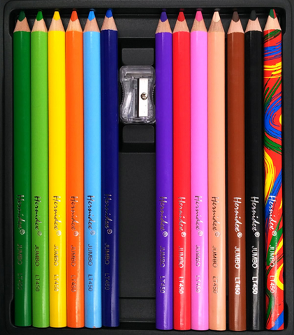 Pack of 12 coloured pencils