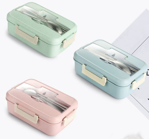 Lunch boxes in 3 colors