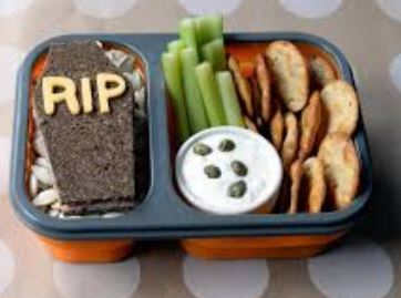 Lunch for kids with Halloween theme