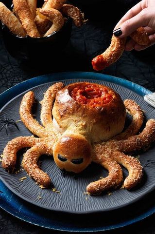 Pizza based Halloween snack