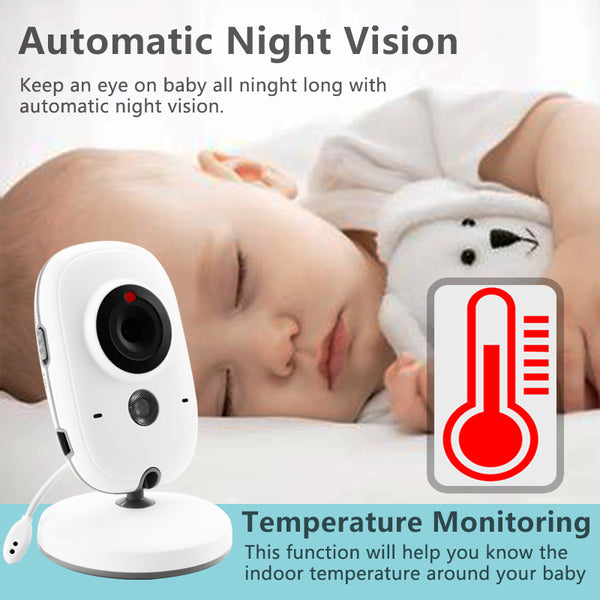 wireless baby monitor with temperature monitor