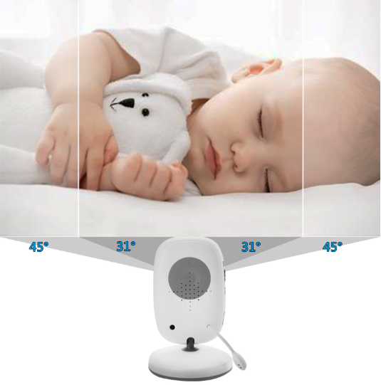 Wireless Baby Monitor with 2 Way Audio Link Night Vision and Music