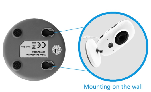 wireless baby monitor can be wall mounted