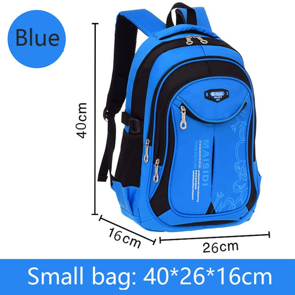 Small School bag backpack in blue