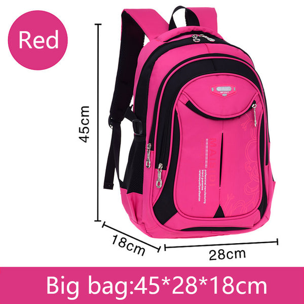 Large School bag backpack in red