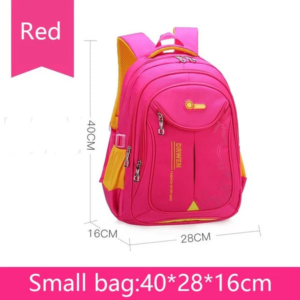 Small School bag backpack in red