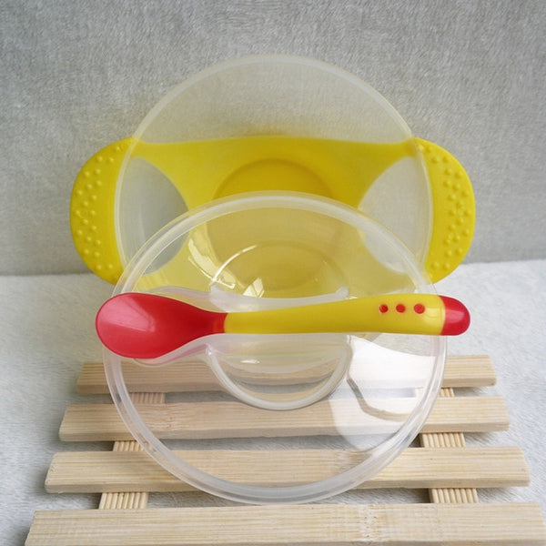 Temperature Sensing Food Bowl and Spoon
