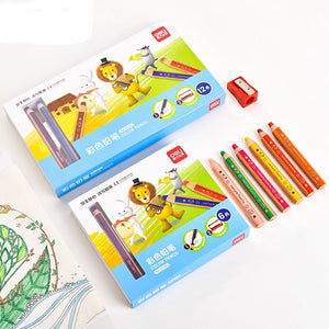 Coloured pencils in boxes of 6 and 12