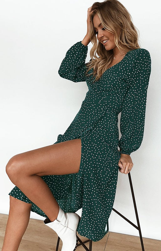 Enter The Woods Dress Forest Green